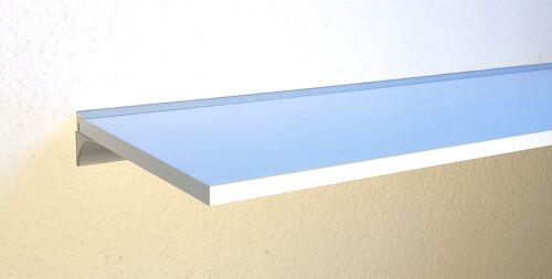 100x40 cm mit Wandprofil LINO19 silbern Wandregal Holzregalboden weiß 100x30 cm