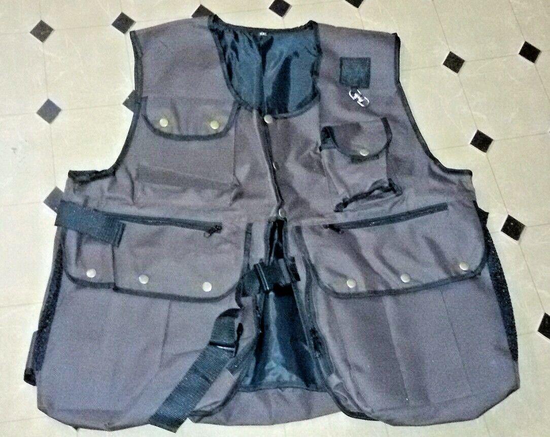 New Falcony and Hunting Waistcoat, Vest braun, XL && XXL Größen, Fully Adjustable