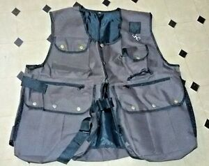New-Falconry-and-Hunting-Waistcoat-Vest-Brown-XL-amp-XXL-Sizes-Fully-Adjustable