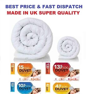 Microfiber Duvet Quilt Soft All Sizes 4.5//10.5//13.5//15.0 TOGS SUMMER SALE