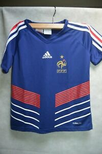 MAILLOT-FOOT-ADIDAS-EQUIPE-DE-FRANCE-TAILLE-7-8-ANS-JERSEY-MAGLIA-FOOTBALL