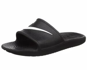 310d2c701855f1 Image is loading Women-Nike-Kawa-Shower-Slide-Sandal-Black-832655-