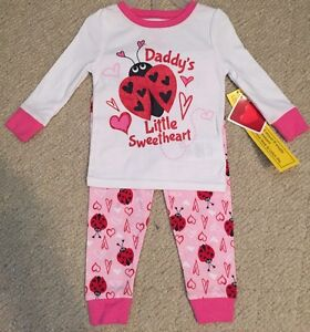 Clothing, Shoes & Accessories Girls' Clothing (newborn-5t) Search For Flights New 4t Toddler Girls Daddy's Sweetheart Valentines Pj Pajamas Snug Fit Set