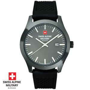 Swiss-Alpine-Military-by-Grovana-7055-1898-grau-Armband-Uhr-Herren-NEU