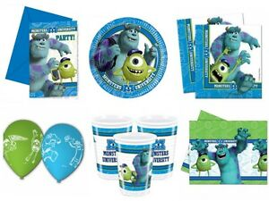 Details About Monsters Inc University Birthday Party Supplies Tableware Decorations Plates