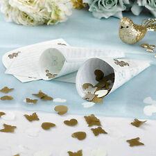 Coriandoli Coni Vintage farfalle romance (storia d'amore) matrimonio Oro & Blues