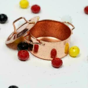 1-12-Copper-Cooking-Pan-Pot-Doll-House-Miniature-Kitchen-Cookware-DIY-Craft-Z4W3