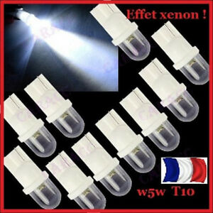 2-AMPOULES-LED-W5W-BLANC-XENON-VEILLEUSE-T10-PUSH-WEDGE-LIGHT-BULB-WHITE