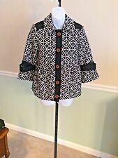 Billabong Black/Tan Geo Print Polyester Blend Coat - Medium
