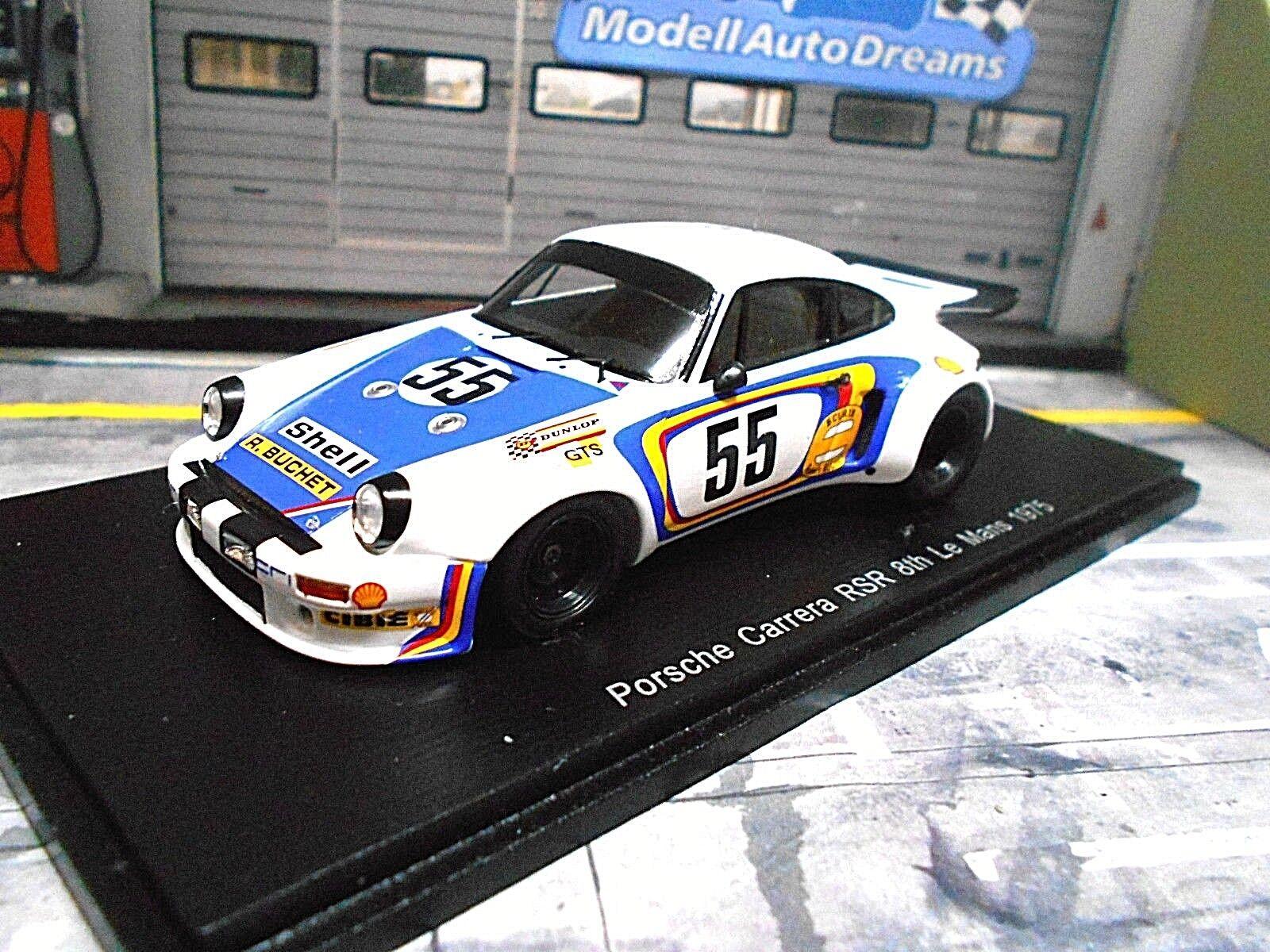 Porsche 911 Carrera 3.0 RSR 1975  55 Buchet référendums Lena quel res Spark 1 43