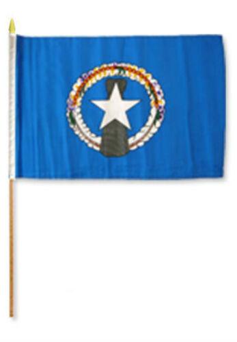 """12x18 12/""""x18/"""" Northern Marianas Stick Flag wood staff"""