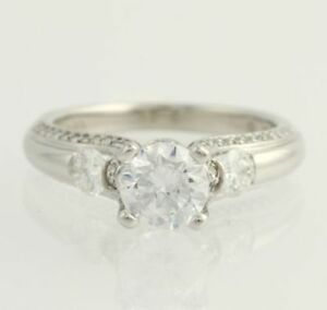 NEW-Verragio-Engagement-Ring-Semi-Mount-Platinum-Solitaire-w-Accents-60ctw