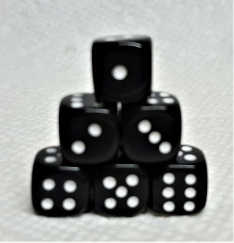 but Tiny Koplow/'s 10mm Deluxe OP Black w//White Pips Basic Black Dice 6//Set