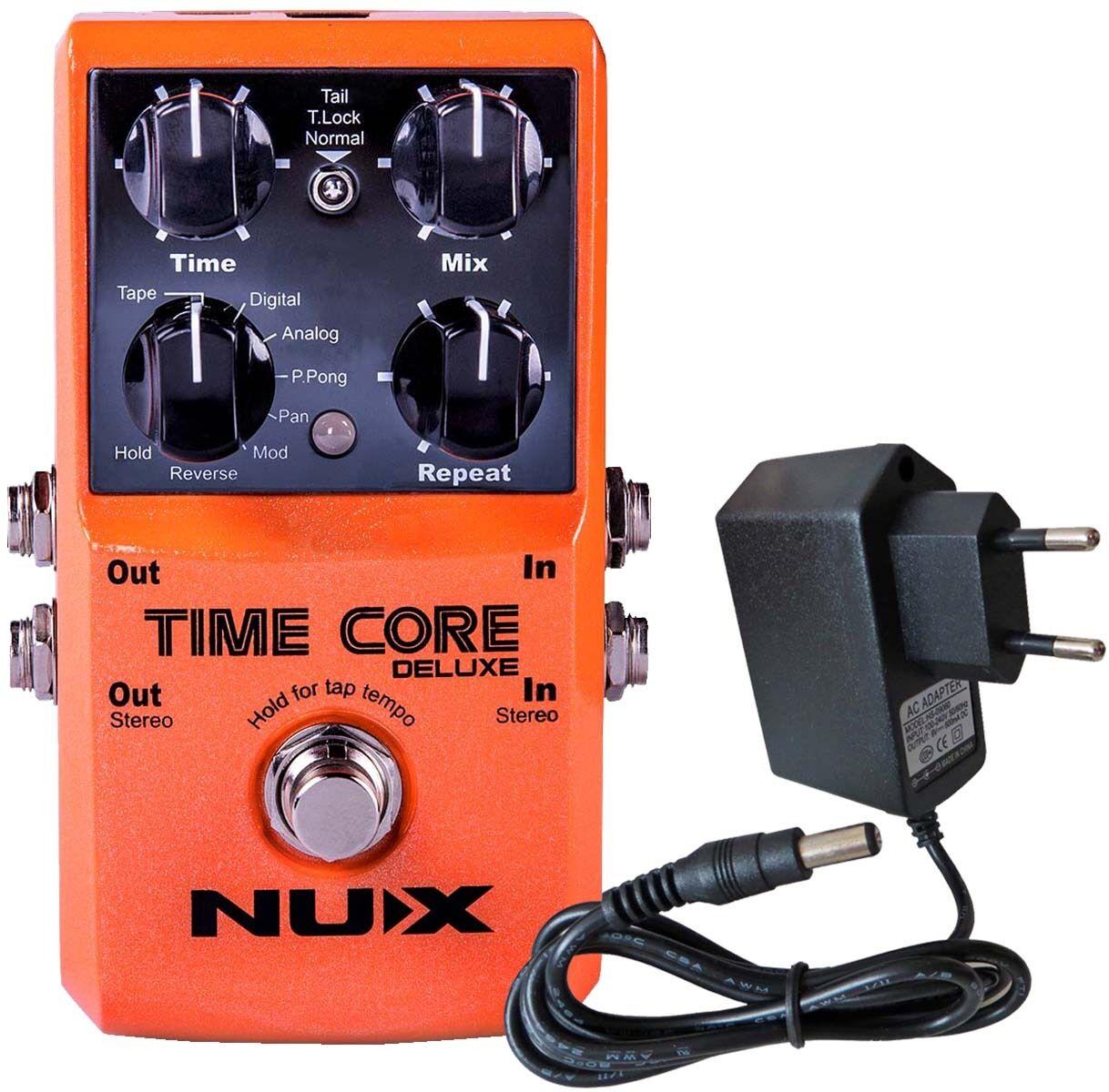 Nux Time Time Time Core Deluxe Multi Delay Pédale + Keepdrum 9V Bloc D'Alimentation  en stock