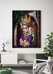 Dia De Los Muertos La Catrina Signed Limited Edition Fine Art Painting Print