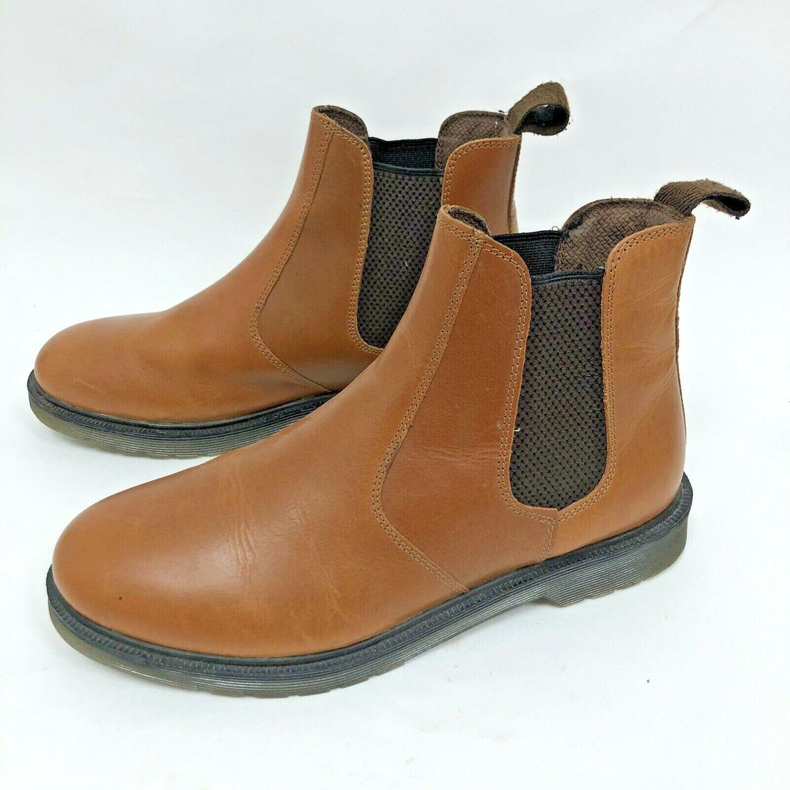 Men's Size 10 Oak Trak Butterscotch Leather Slip On Chelsea Boots - 'Winterhill'