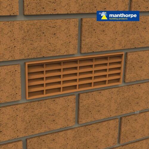 "5 x White Interlocking Air Brick Vents 9/"" x 3/"" Grille for Air Flow Ventilation"