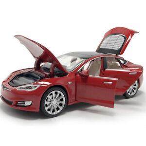1-32-escala-modelo-Tesla-S-100D-Coche-Modelo-Diecast-Metal-Regalo-Juguete-Vehiculo-Ninos-Rojo