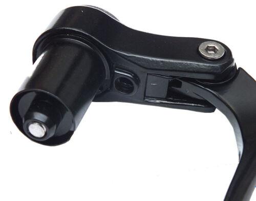 1 pair Road Bike Bicycle Time Trial Bullhorn TT Bar End Aerobar Brake Lever set