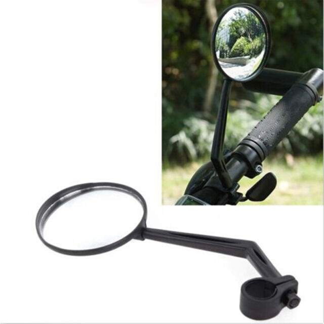 Utility Black For Handlebar Motorcycle Bicycle Side Rear View Rearview Mirror