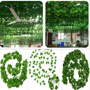Artificial-Garland-Plants-Foliage-Flowers-Green-Ivy-Fake-Leaf-Vine-Garden-Decor