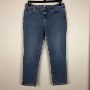 J-Jill-Womens-Jeans-Authentic-Fit-Slim-Ankle-Blue-Size-8-Petite