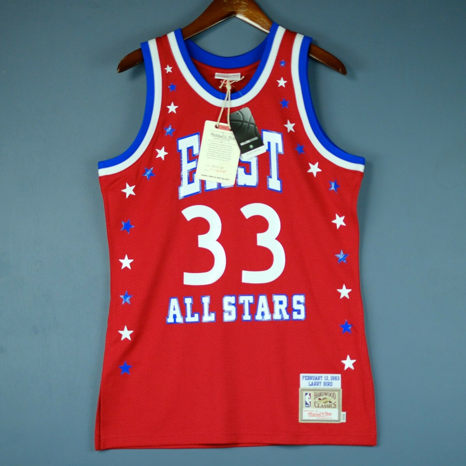 100% Authentic Larry Bird Mitchell & Ness 1983 All Star Game Jersey Size 36 S