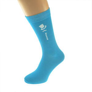 Turquoise Coloured Wedding Socks,Top Hat and Moustache Design Ref Col Top Hat
