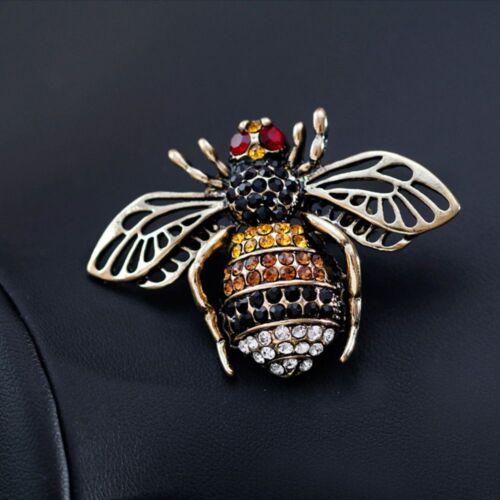 Fashion strass Abeille Insecte Animal forme broche épinglette Femmes Bijoux Cadeaux