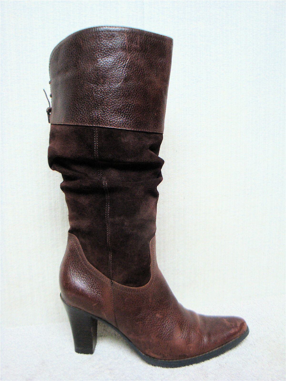 A.N.A - A NEW APPROACH -Women's Brown Suede Leather Western Cowboy Boots -Size 6