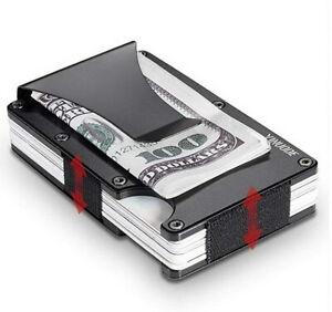 RFID-Blocking-Aluminum-Slim-Metal-Front-Pocket-Wallet-Credit-Card-Case-Holder