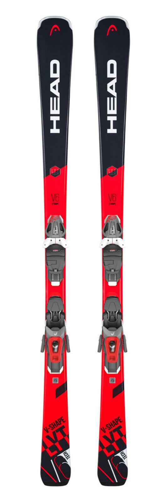 HEAD V-Shape V6 SW Ski Herren 149 156 170 163 170 156 cm inkl. Bindung NEU Skiset J18 3ab601