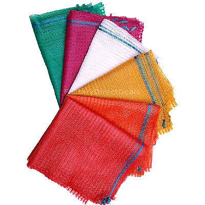 100 Orange Net Sacks 35cm x 50cm Holds 5Kg Mesh Woven Bags Kindling Logs Onions