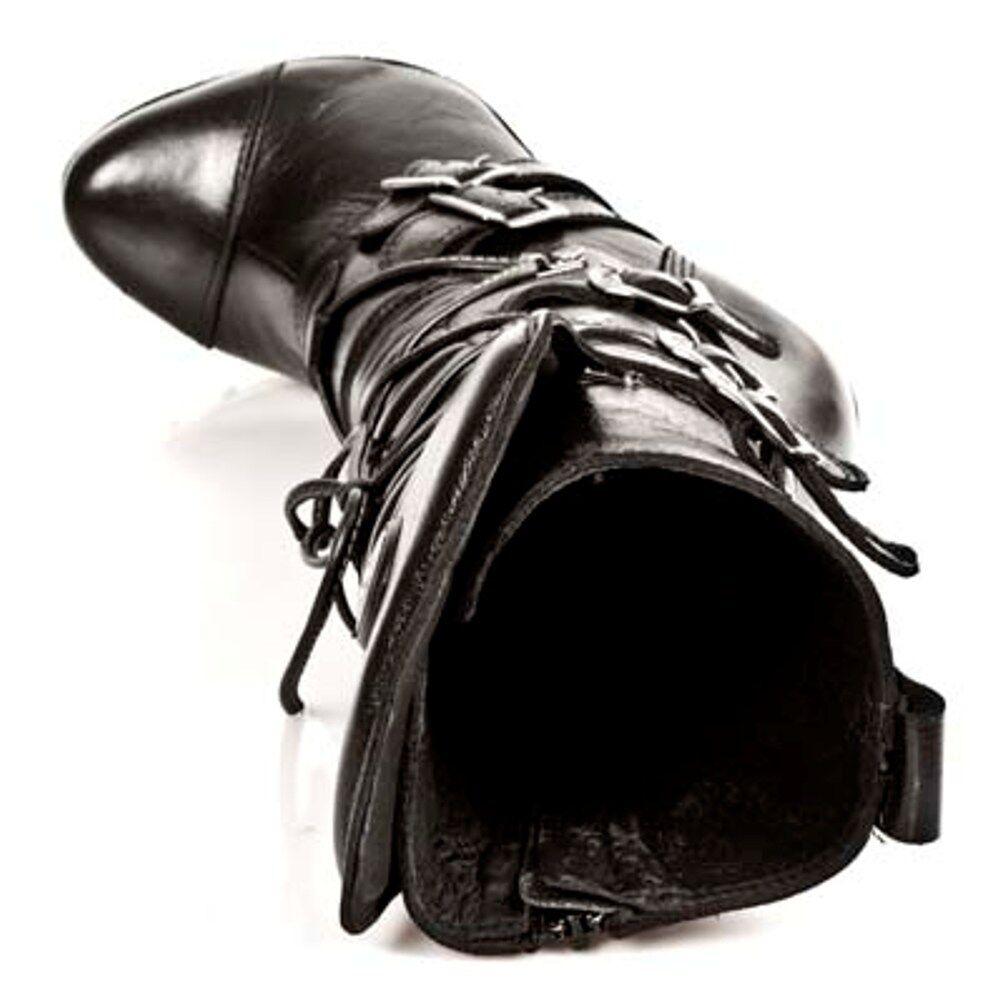 New Rock Boots women Punk Punk Punk Gothic Bottes - Style PUNK001 C1 black 5aa801