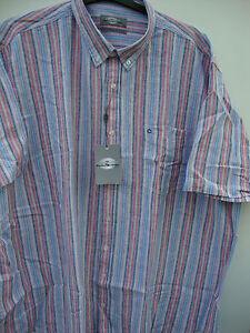 Shirt Peter Short Linen Sleeve cotton Gribby 2xl3xl4xl5xl xwavz