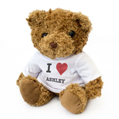 NEW - I LOVE ASHLEY - Teddy Bear Cute Cuddly - Gift Present Birthday Valentine