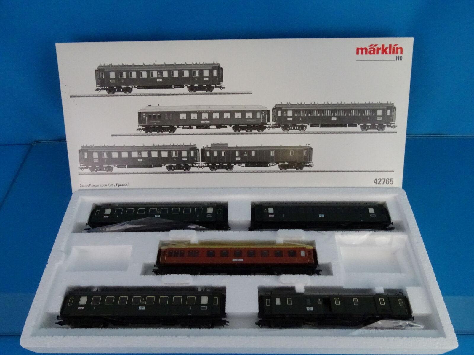 Marklin 42765 DRG Bavarian Car Set  Express Train Passenger Car Set  NEW