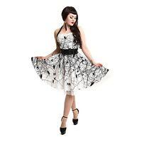 VIXXSIN DARK CROW DRESS WHITE BLACK GOTHIC POIZEN EMO PUNK ALT L