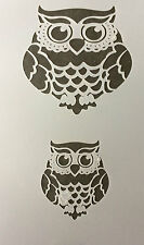 Owl Mylar Reusable Stencil Airbrush Painting Art Craft DIY home Christmas