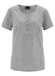 18356a06a86 Image is loading Bonprix-Kaleidoscope-Size-8-Black-Stripe-Cotton-Tunic-