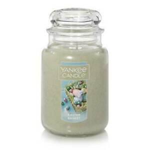☆☆EASTER BASKET☆☆YANKE CANDLE LARGE JAR 22 OZ☆☆GREEN☆FREE EXPEDITED SHIPPING