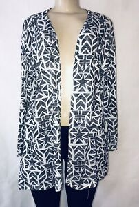 Divided-H-amp-M-Women-039-s-Cardigan-Open-Front-Long-Thin-Sweater-Aztec-Print-Size-S