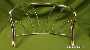1754D Vtg Chromed Steel Seat Back from antique Beauty Parlor Seat Salvafed Part