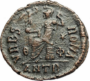 VALENTINIAN-II-378AD-Antioch-Authentic-Ancient-Roman-Coin-VRBS-ROMA-i76686