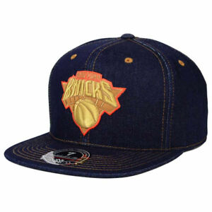 4a513594f76 Details about New York Knicks M N NBA Denim Basketball Fitted Cap Hat Men s  Mitchell   Ness NY