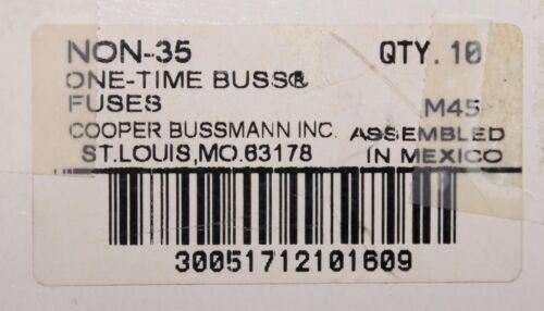 COOPER BUSSMANN BUSS NON 35 250V 35 Amp One Time Fuse NON-35