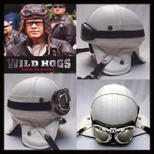 Christmas Gift Sale Motorcycle Retro Vintage *WILD HOGS* Helmet + 2 Goggles