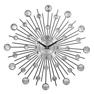 Wall-Clock-Large-Vintage-Modern-Watch-Metal-Art-Luxury-Diamond-Design-Home-Decor