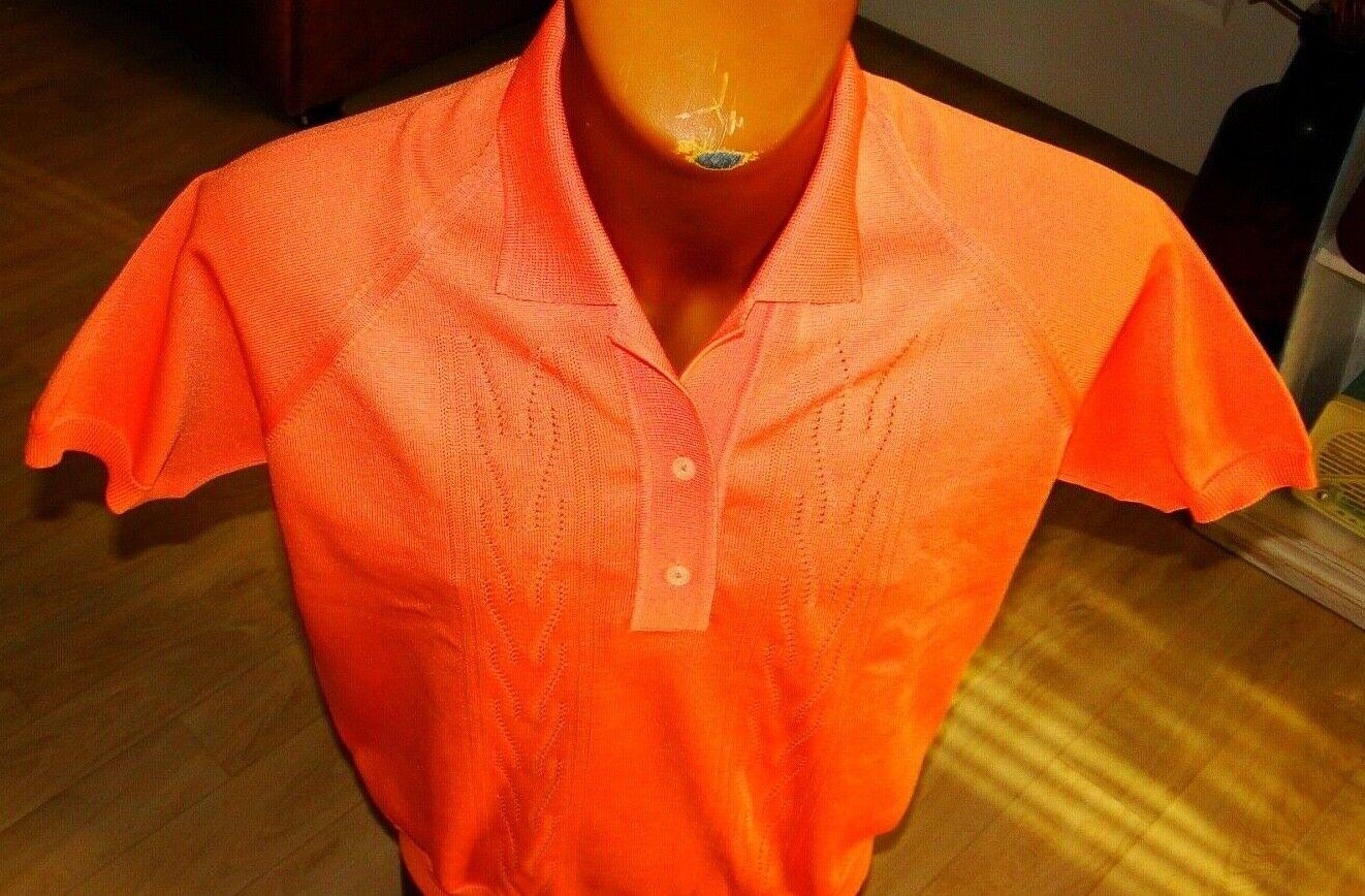Vintage 60s  Sportswear Cardigan Sweater  Apricot… - image 4