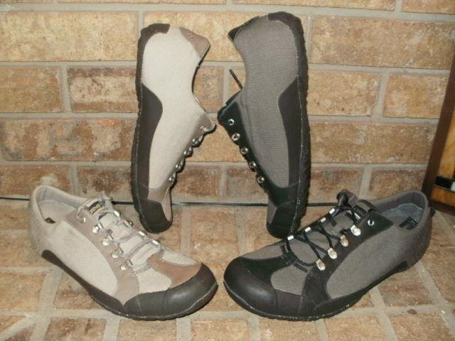 New Teva Keagan Canvas-Leather Hiking Shoe 6008 Select Brown-Black or Tan-Brown